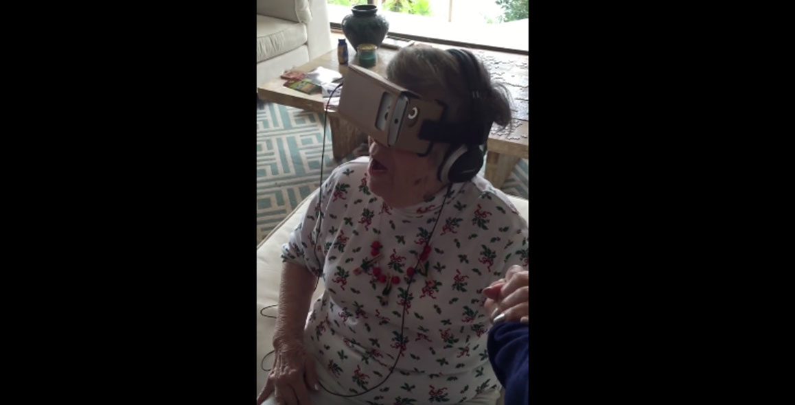 Grandma Tries VR For The First Time & Completely Loses It
