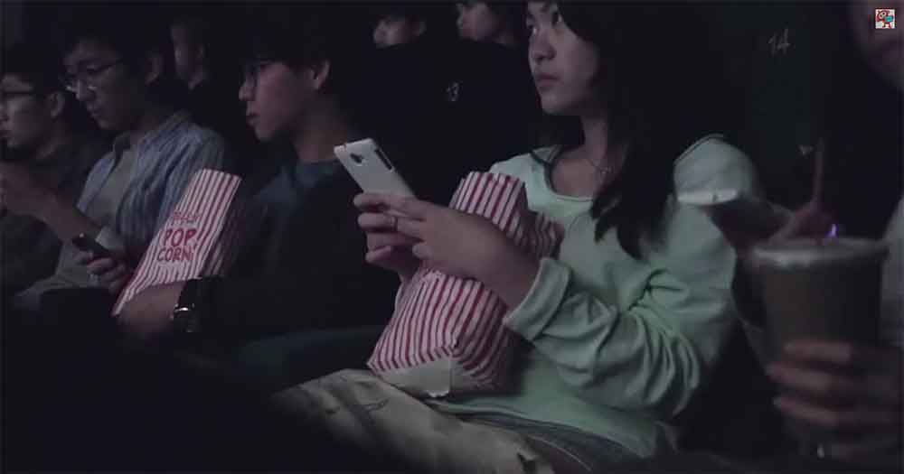 Movie Theater Forces Crowd to Use Their Phones for an Experience They Won't Forget