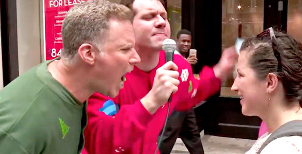 Will Ferrell & Billy Eichner Wear Christmas Pajamas & Yell At People