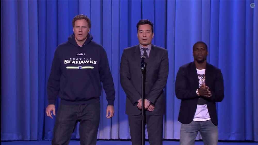 Will Ferrell and Kevin Hart Super Bowl Lip Sync Battle with Jimmy Fallon